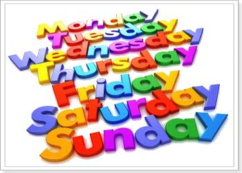 Сокращеные названия дней недель и месяцев