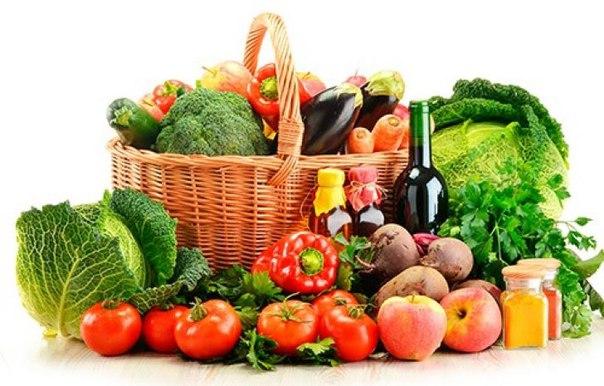 корзина со здоровыми продуктами